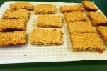 Strawberry Oatmeal Squares cooling