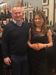 Marisa D'Vari and Ribera del Duero Tinta Figuero winemaker Jean-Francois Hebrand