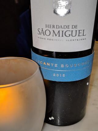 Bottle of Sao Miguel Alicante Bouschet wine