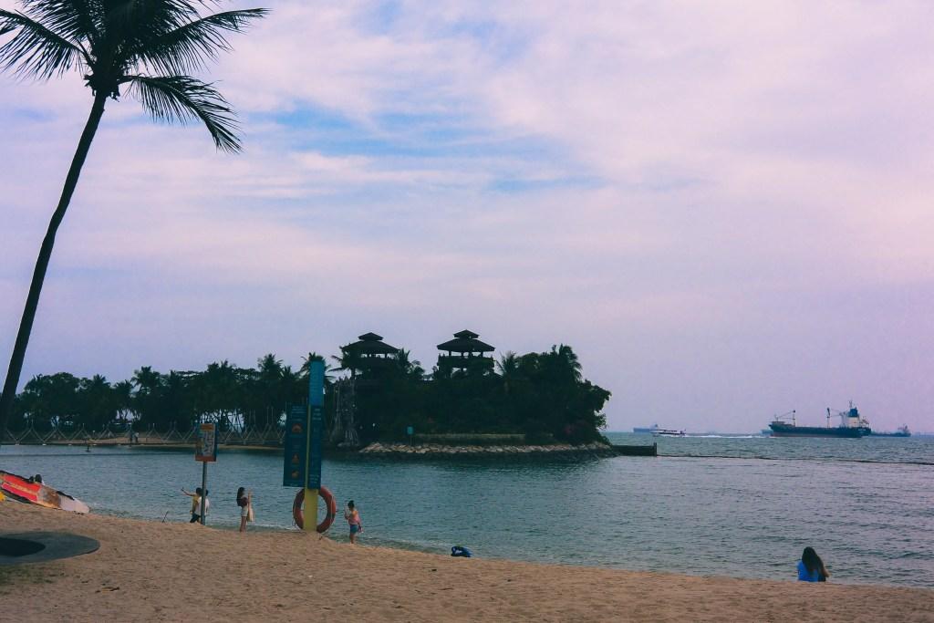 Sentosa Island Siloso Beach | Singapore With Kids | Things To Do In Singapore #asia #southeastasia #singapore #travel #travelblog