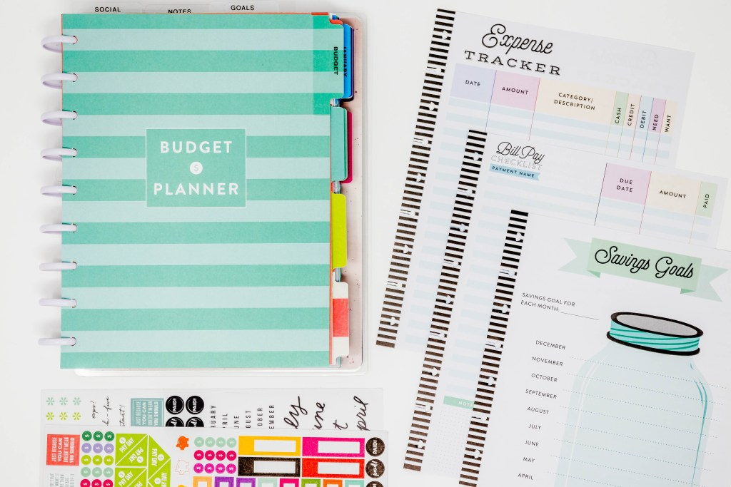 the budget planner extension pack from the happy planner