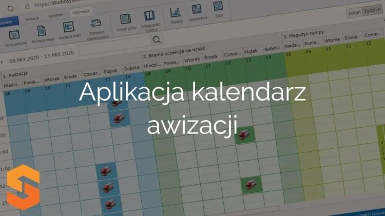 platforma do awizacji,aplikacja kalendarz awizacji