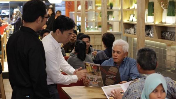 With Mr. Hatta Rajasa Opening Japanese Restaurant