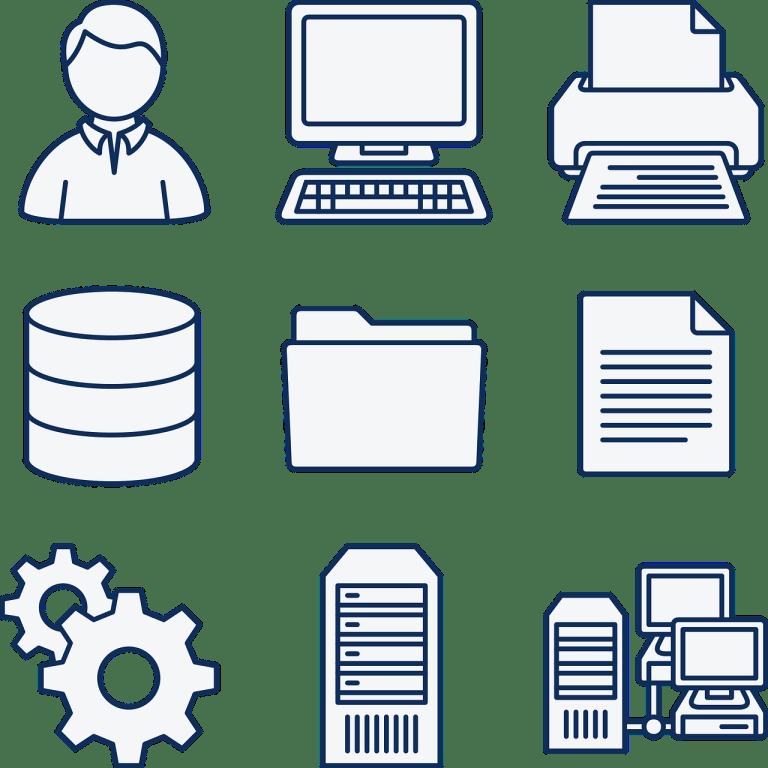 computer, data, database