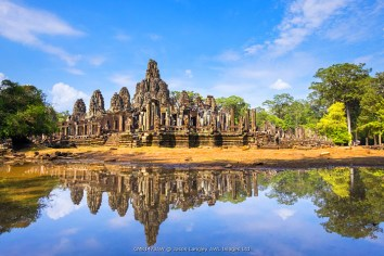 Prasat Bayon temple ruins, Angkor Thom, UNESCO World Heritage Site, Siem Reap Province, Cambodia