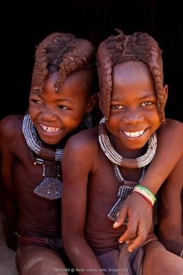 Himba children, Kaokoland, Namibia