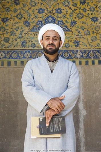 Iran, Central Iran, Esfahan, Naqsh-e Jahan Imam Square, Royal Mosque, Muslim cleric