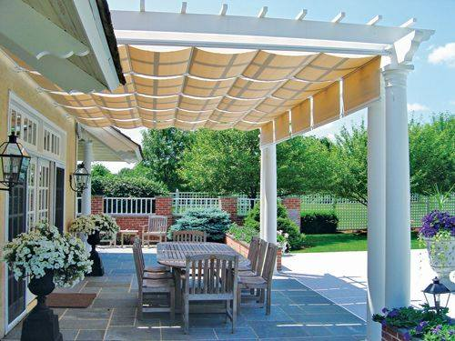 THE ARTISTIC WAY TO DO SHADE | Alpha Canvas & Awning on Canvas Sun Shade Pergola id=58251