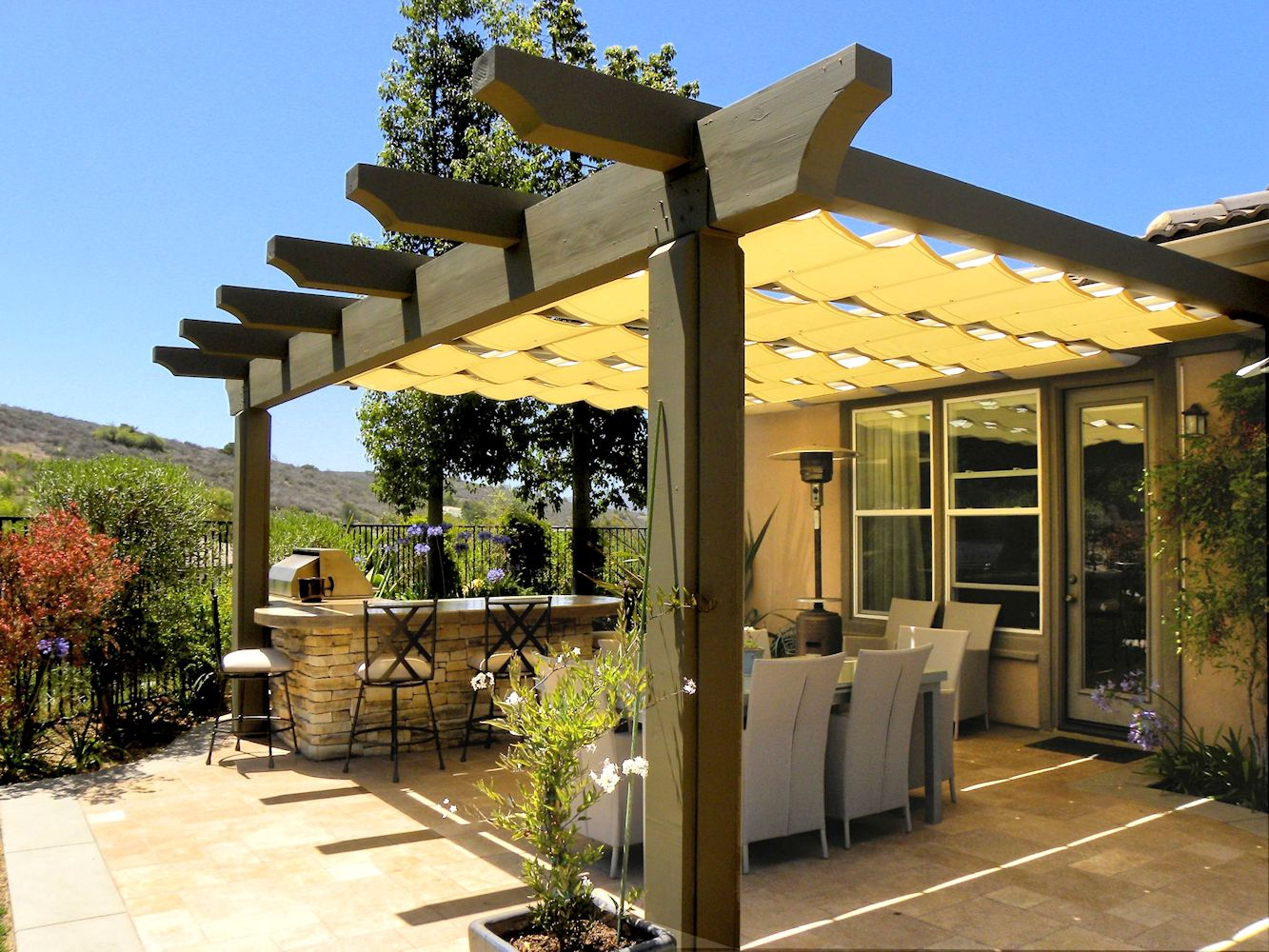 THE ARTISTIC WAY TO DO SHADE | Alpha Canvas & Awning on Canvas Sun Shade Pergola id=65492