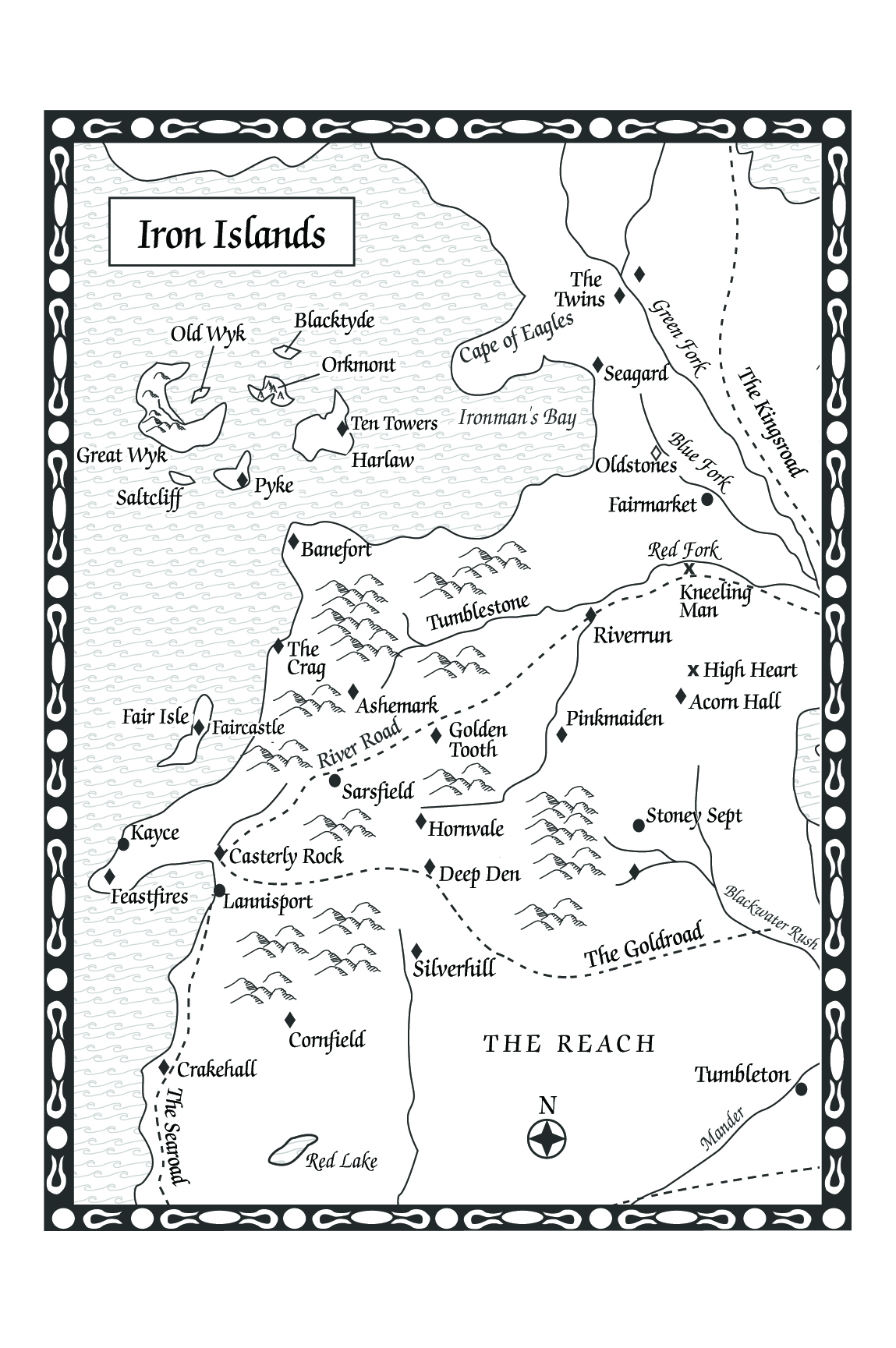 A Feast For Crows Map Of The Iron Islands
