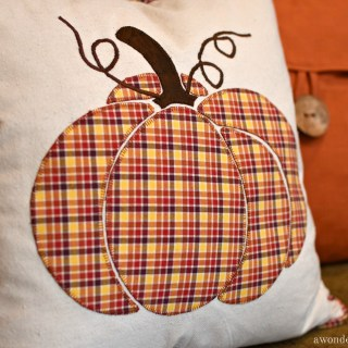 Favorite Shirt to Plaid Pumpkin Pillow