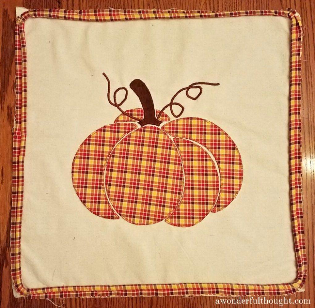 A Wonderful Thought | Plaid Pumpkin Pillow | awonderfulthought.com