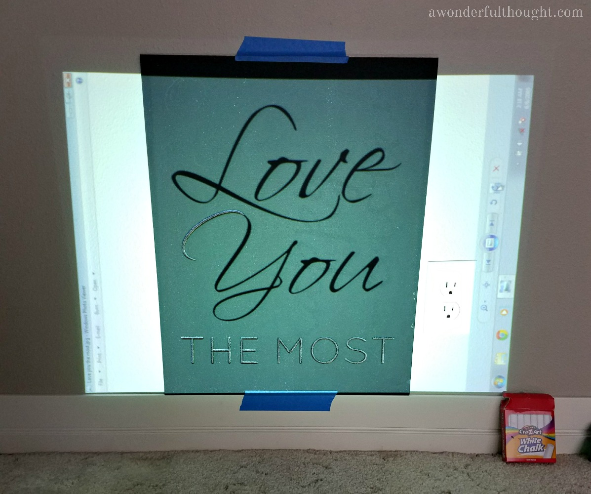 How to Make a Chalkboard | awonderfulthought.com