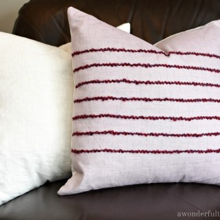How to Easily Add Texture to a DIY Pillow