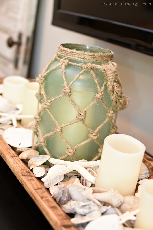 diy sea glass rope lantern a wonderful thought