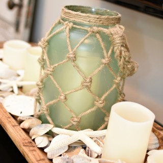 DIY Sea Glass Rope Lantern