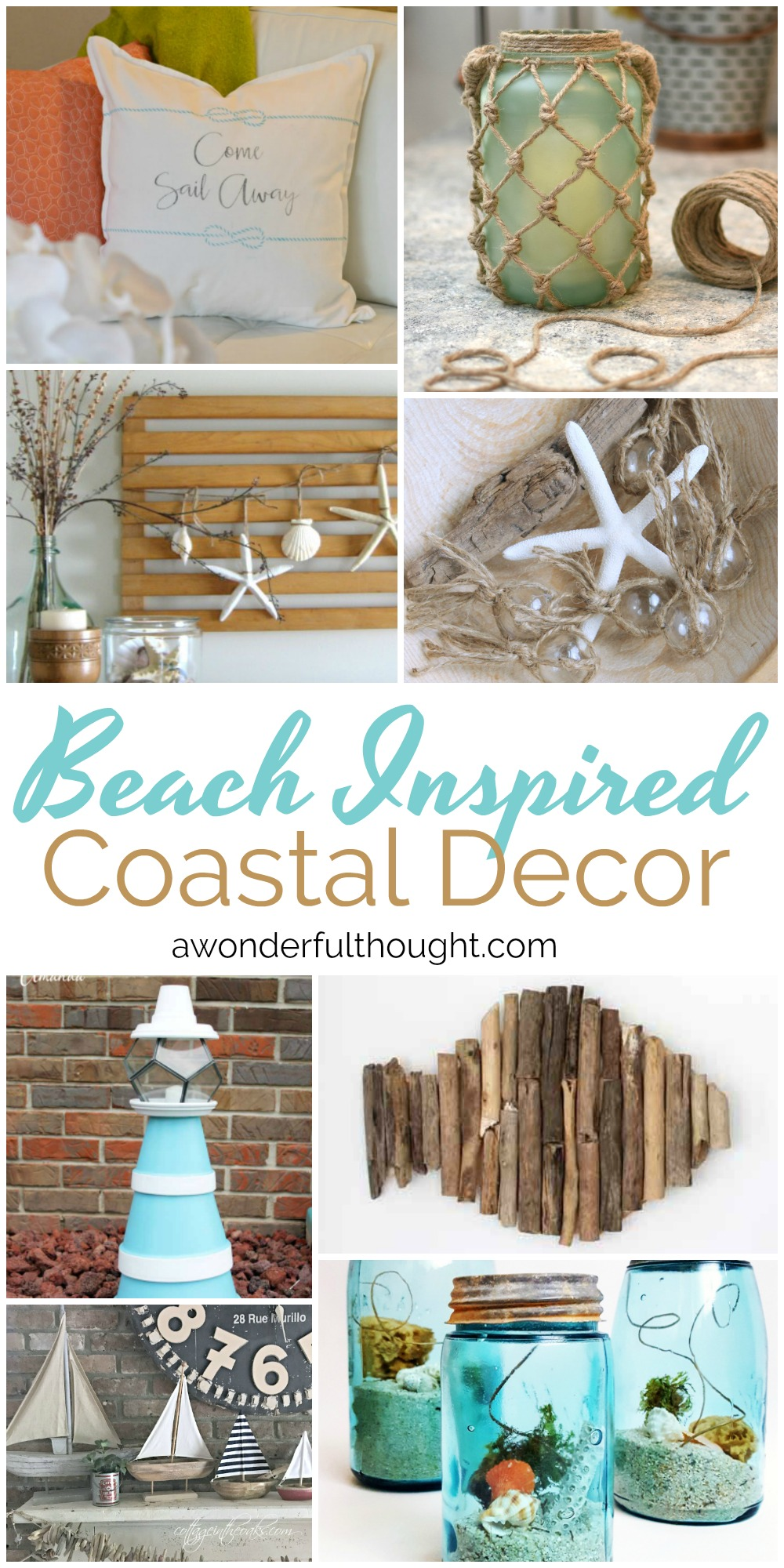 Beach inspired coastal decor mm 162 a wonderful thought for Coastal beach home decor