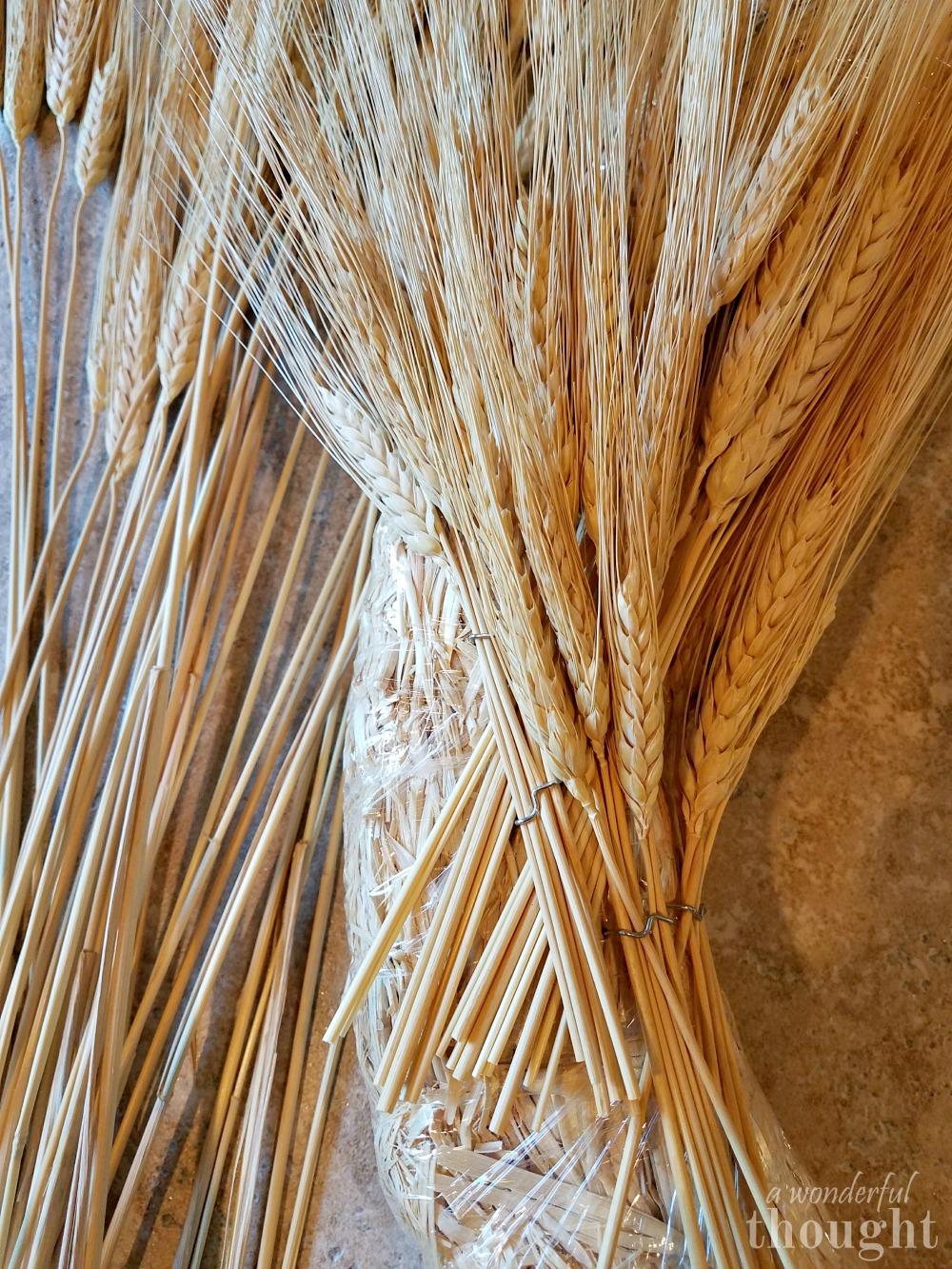 DIY Wheat Wreath | awonderfulthought.com