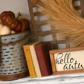 Burgundy and Mustard Fall Mantel