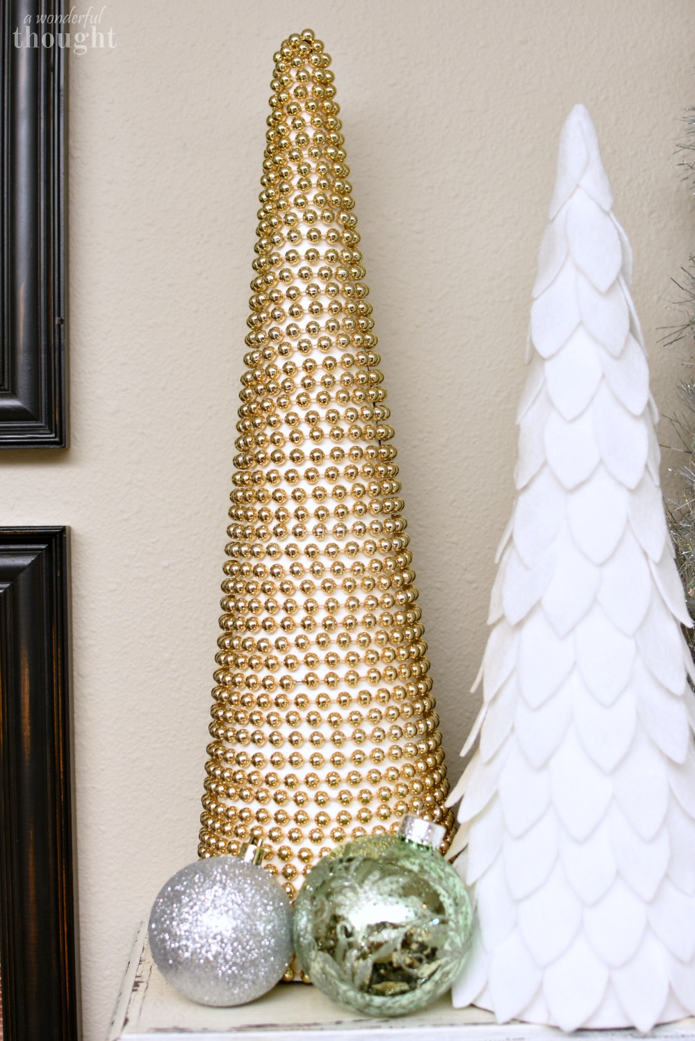 Diy Cone Christmas Trees A Wonderful Thought