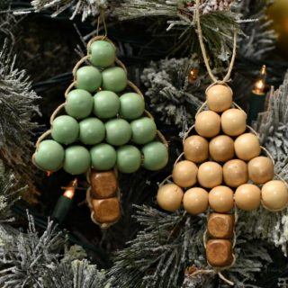 DIY Ornament | Wooden Bead Christmas Tree
