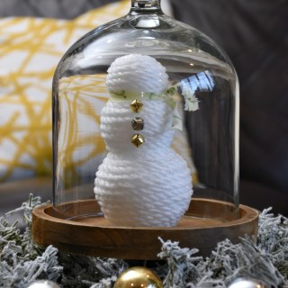 Abstract Snowman DIY