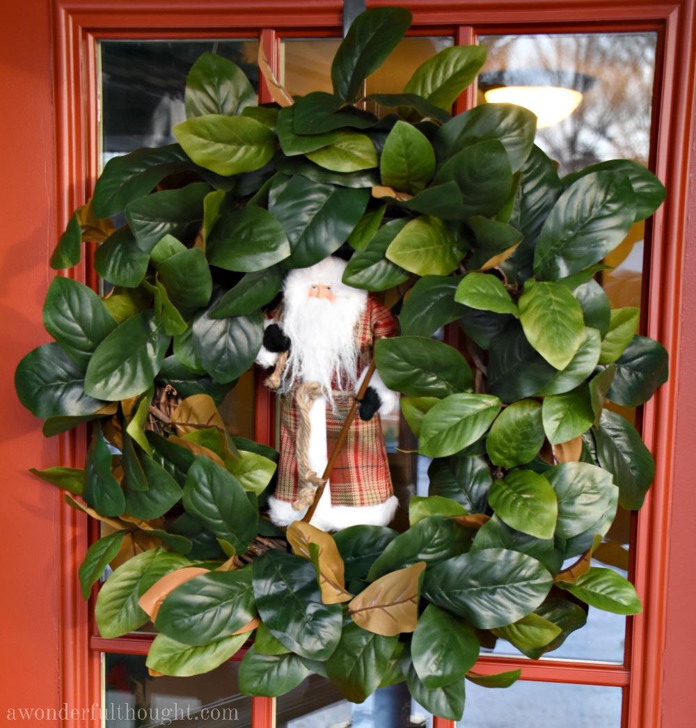DIY Christmas Magnolia Wreath #Christmaswreath #diywreath #magnoliawreath #awonderfulthought