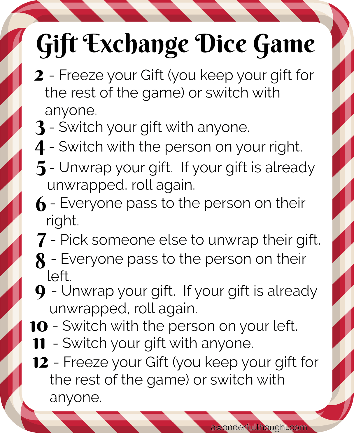 10 Fun Christmas Gift Exchange Ideas in lieu of White Elephant #partygames #giftexchange #Christmasgiftexchange #awonderfulthought