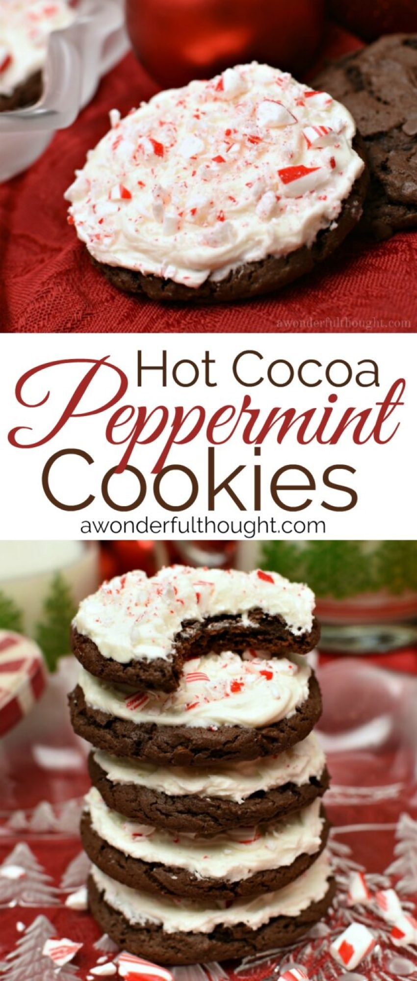 Hot Cocoa Peppermint Cookies