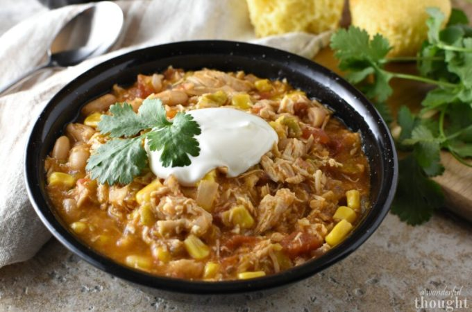 Crock Pot Chicken Chili #crockpotmeals #chickenchili #chilirecipe #awonderfulthought