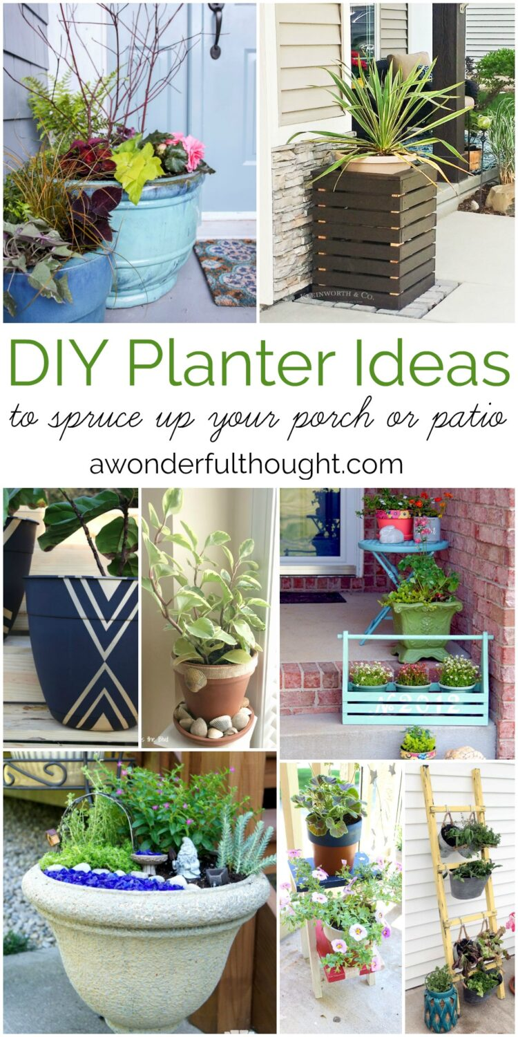 Incroyable DIY Planter Ideas To Spruce Up Your Porch Or Patio #planters #diyplanters  #porchdecor