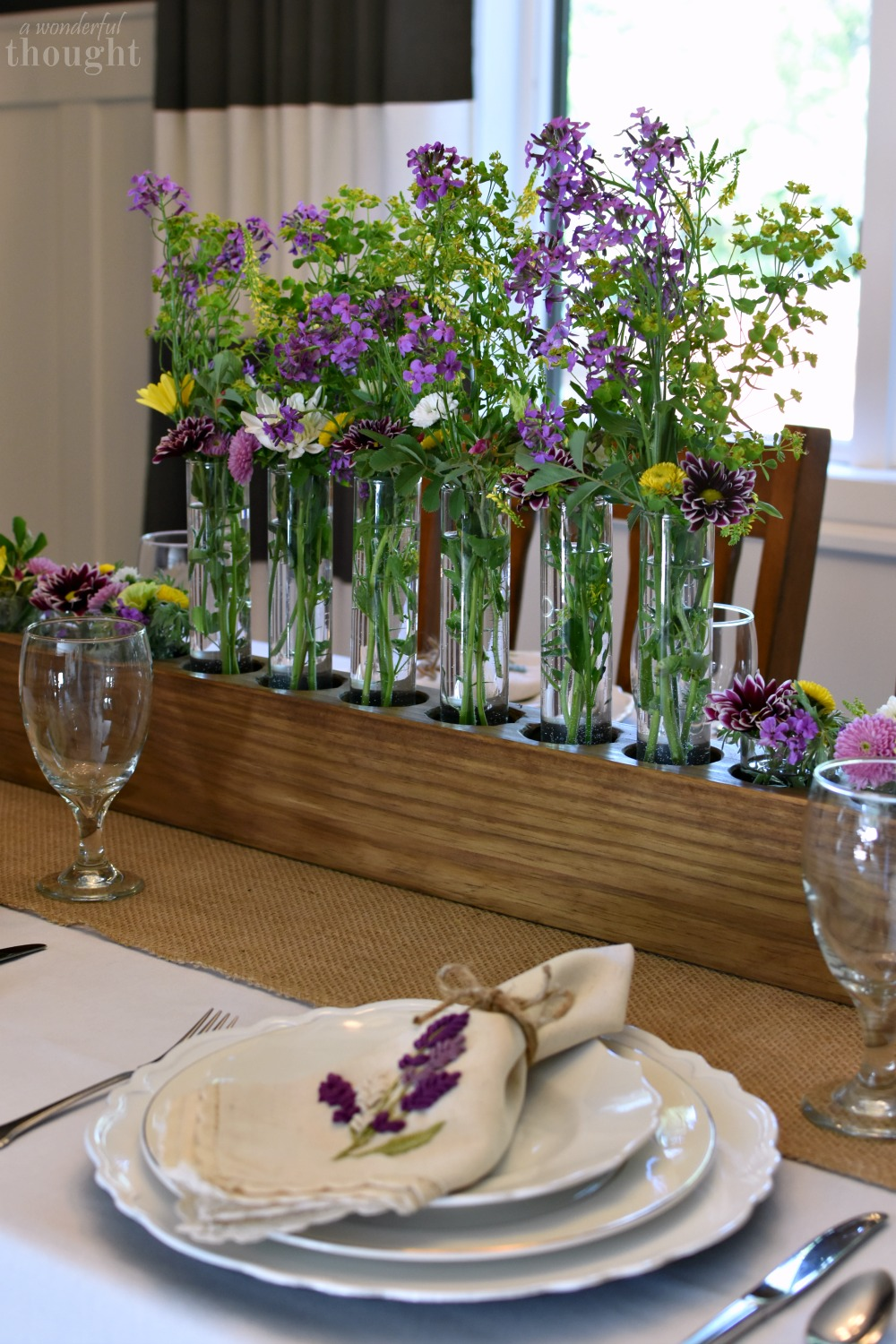 summer wildflowers tablescape a wonderful thought