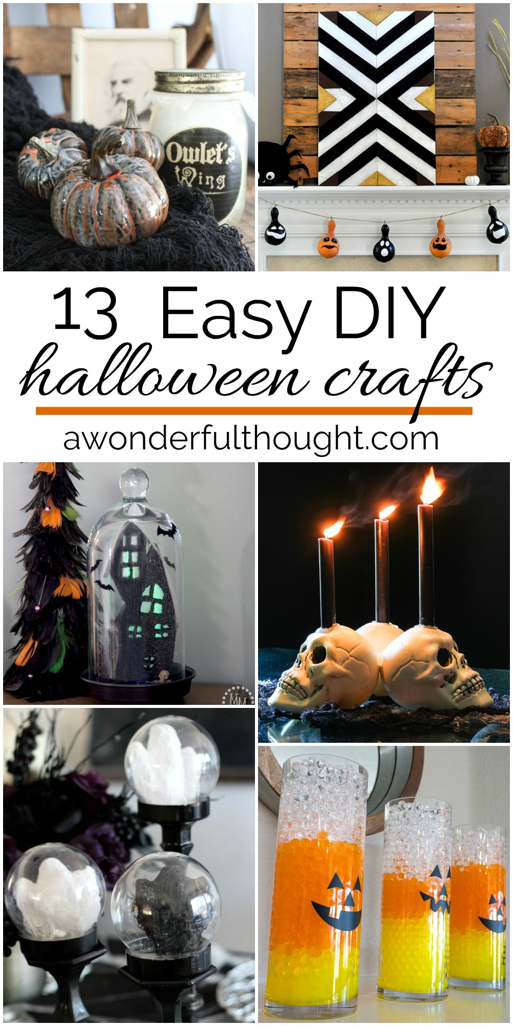 Easy Halloween DIY Crafts - A Wonderful Thought