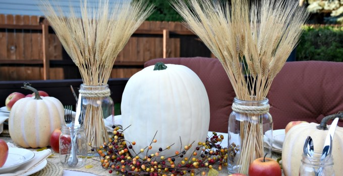 Outdoor Fall Tablescape | Apple Harvest