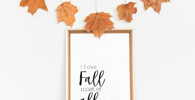 Simple Touches of Fall Decor