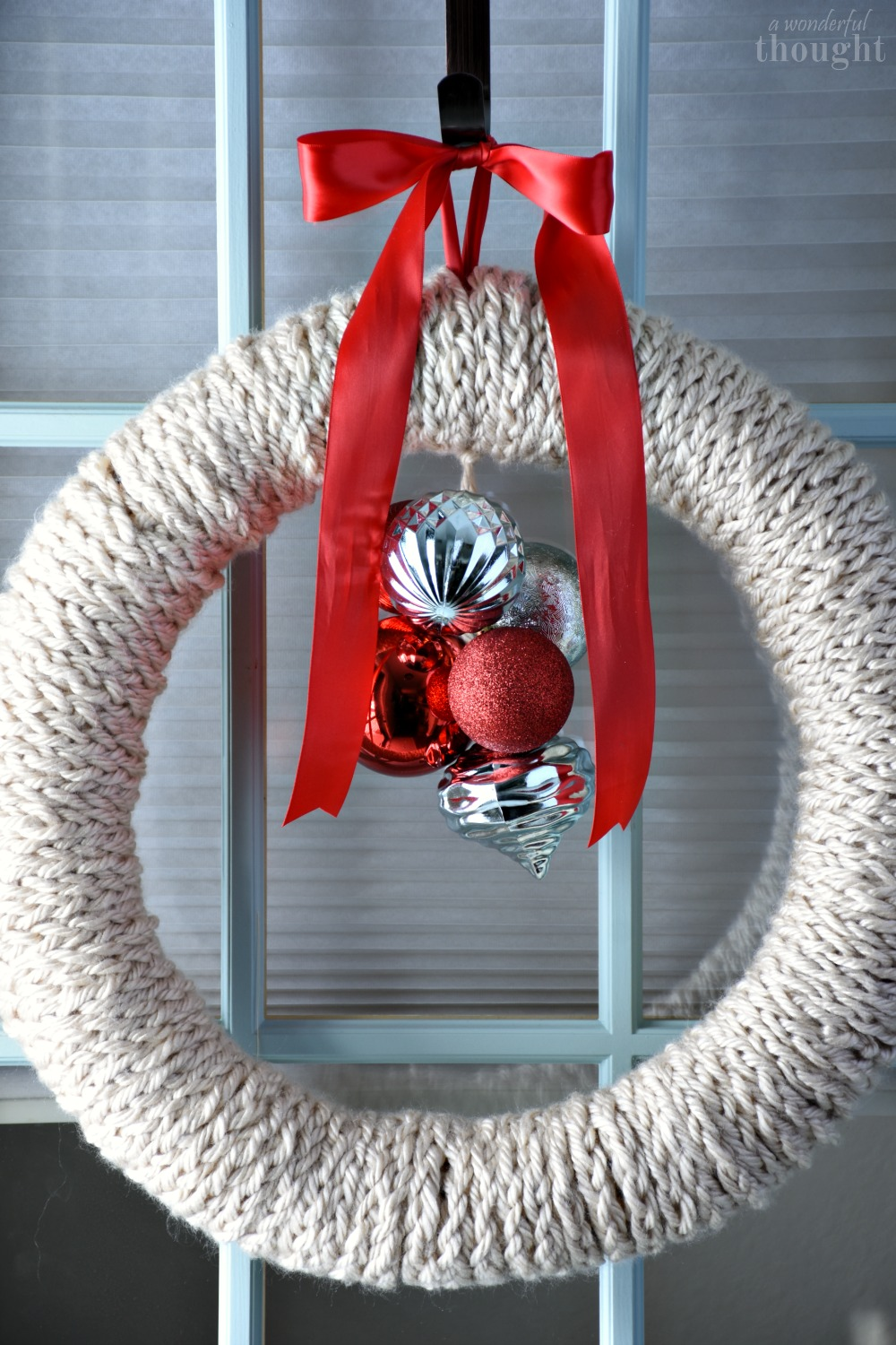 Finger Knitted Christmas Wreath A Wonderful Thought