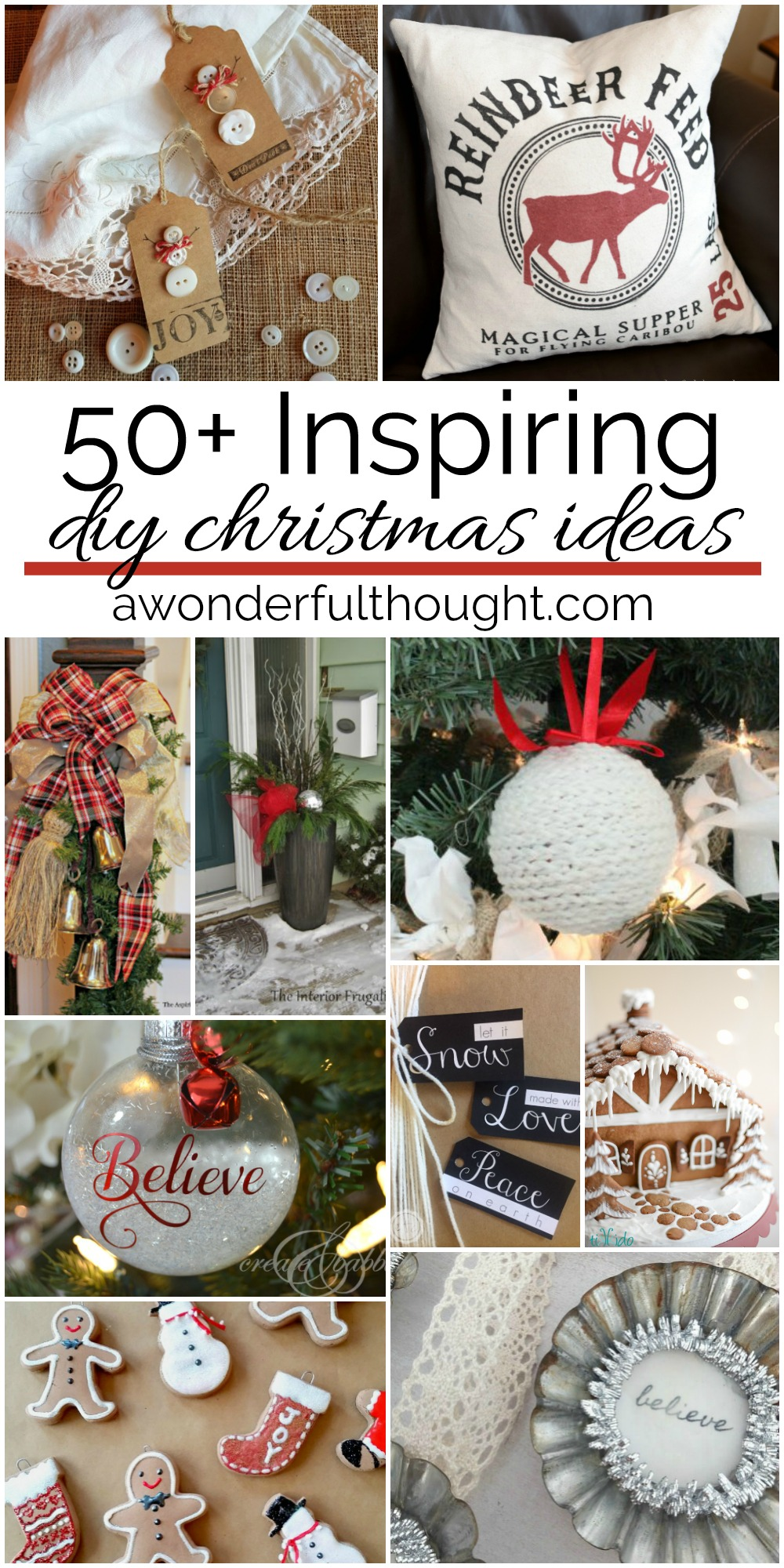 50+ Inspiring DIY Christmas Ideas - A Wonderful Thought