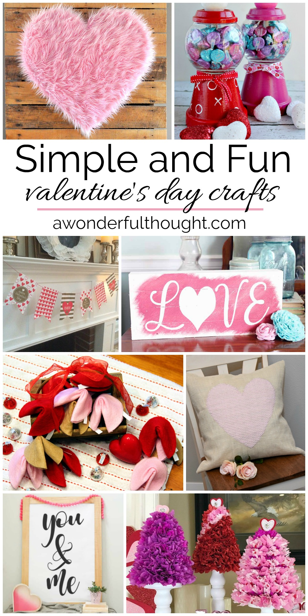 Simple and Fun Valentine's Day Crafts - A Wonderful Thought