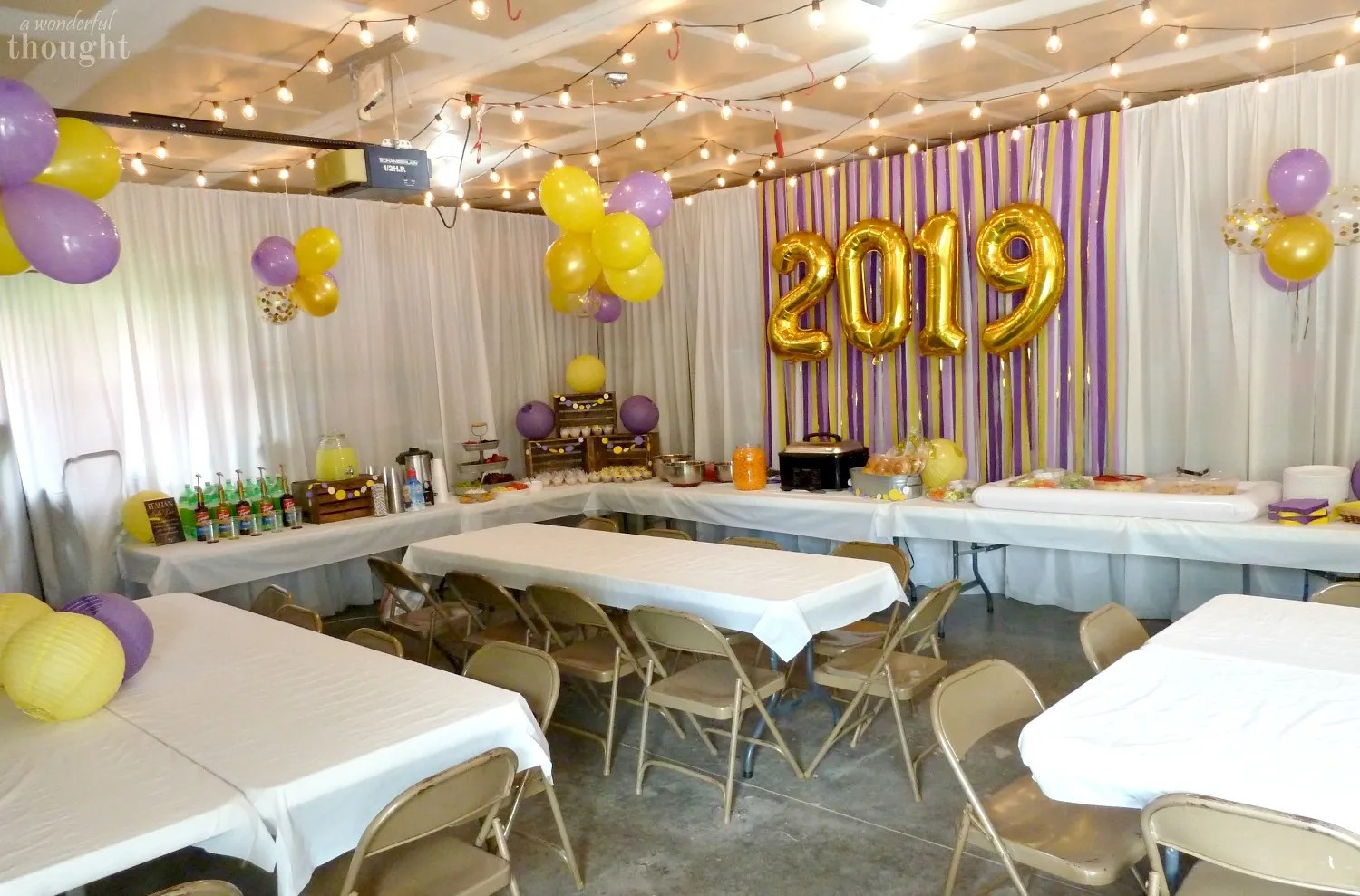 Graduation Party Ideas | Garage Party - A Wonderful Thought