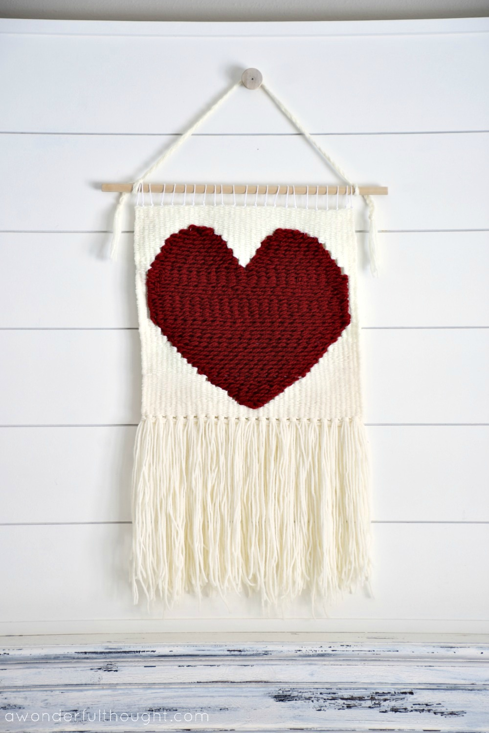 Simple Heart Weaving Wall Hanging - A Wonderful Thought