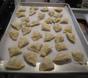 pre-fry samosas
