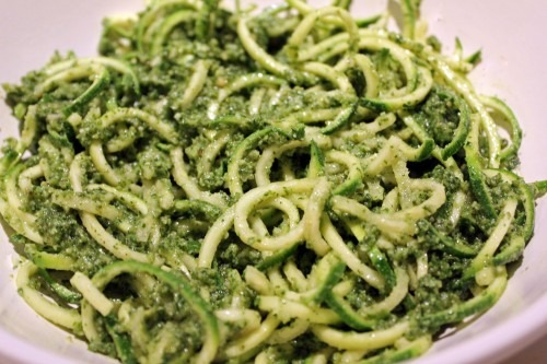 Spiralized (featuring Basil Pesto with Zucchini Noodles)