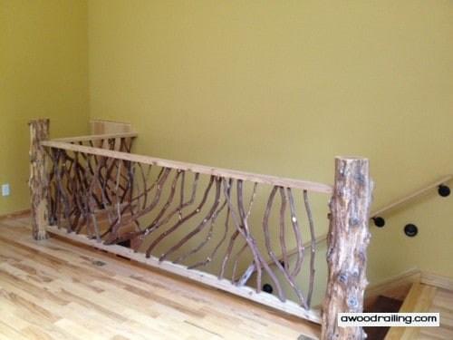 Interior Railings Stairs And Balcony Handrails   Rustic Stair Railings Interior