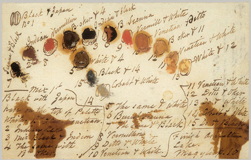 These are the instructions Thomas Sully gave to himself for painting Queen Victoria.  Not to be confused with the actual portrait.