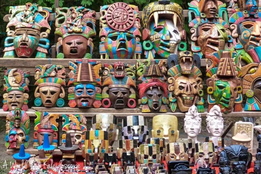 mexico-yucatan-masks-souvenirs