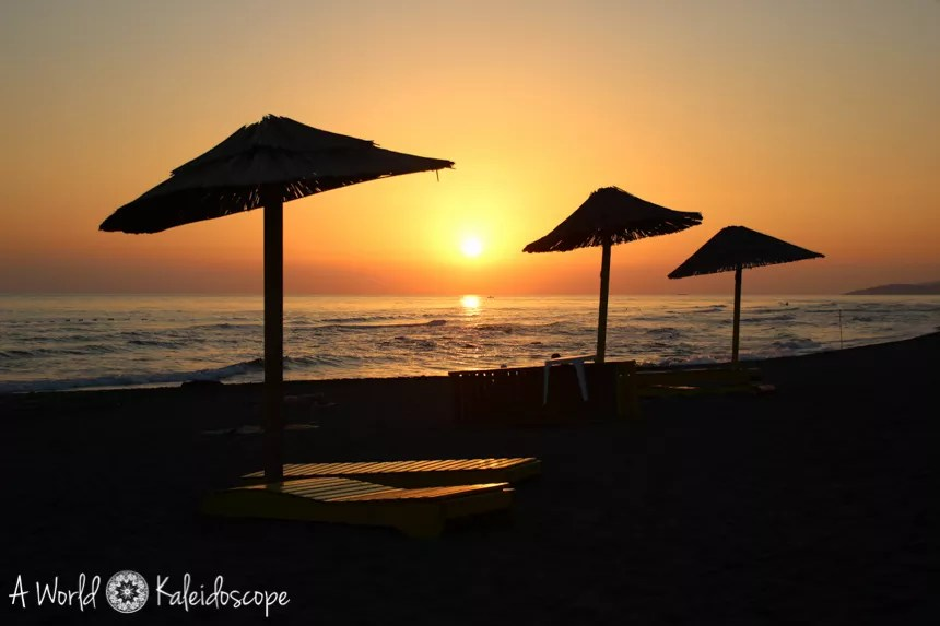 Ada Bojana Beach Montenegro Sunset