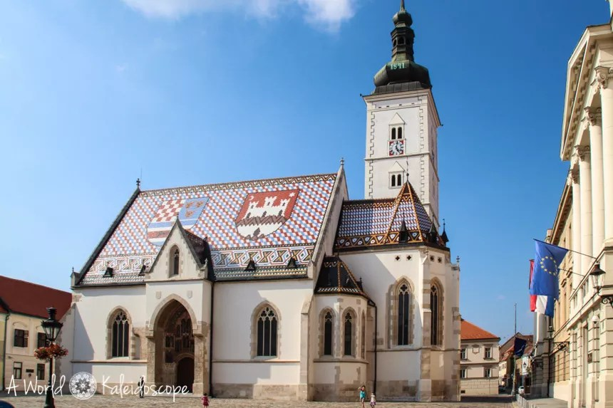 Upper town Marco Cathedral, Zagreb, Croatia