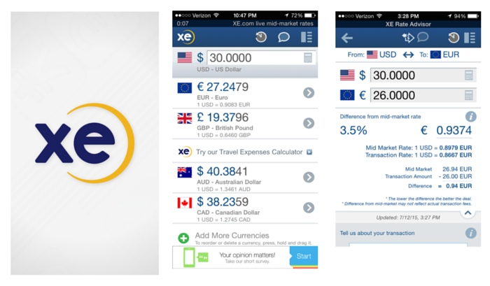 Apps to Download Before an International Trip_XE Currency
