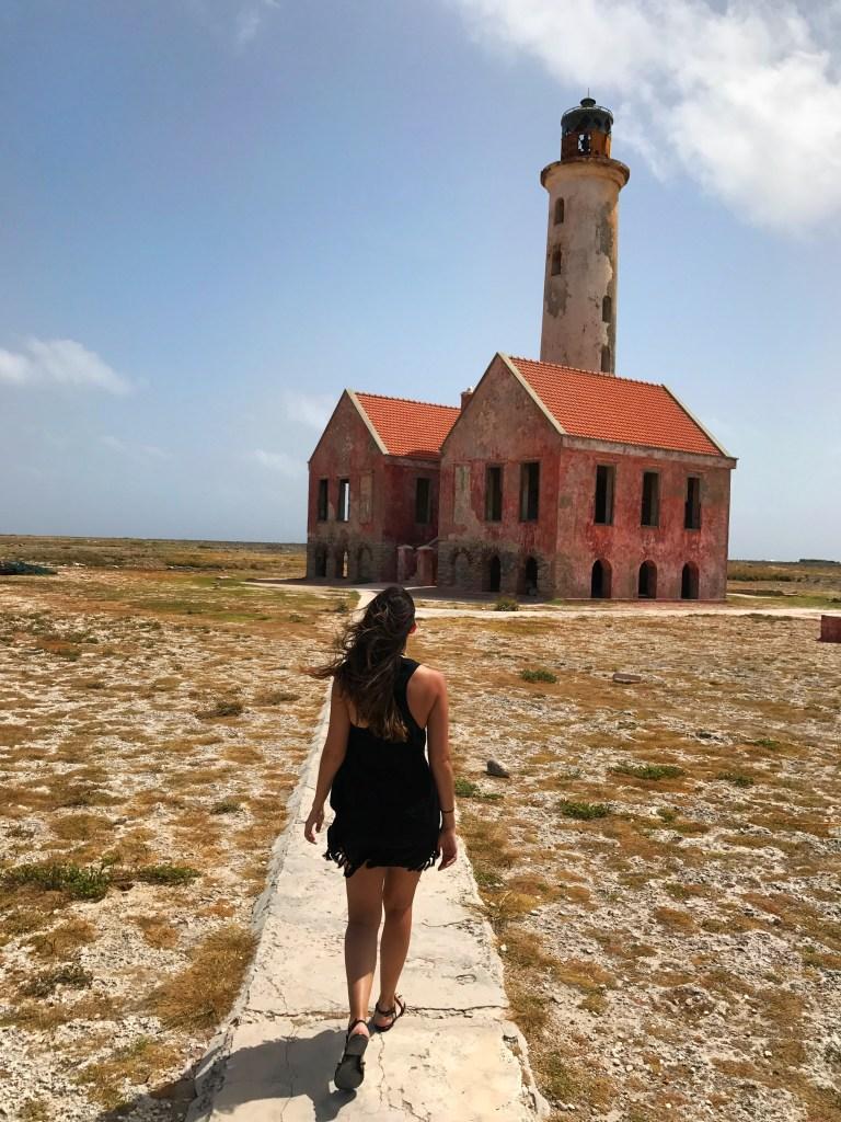 Walking towards the lighthouse on Klein Curaçao