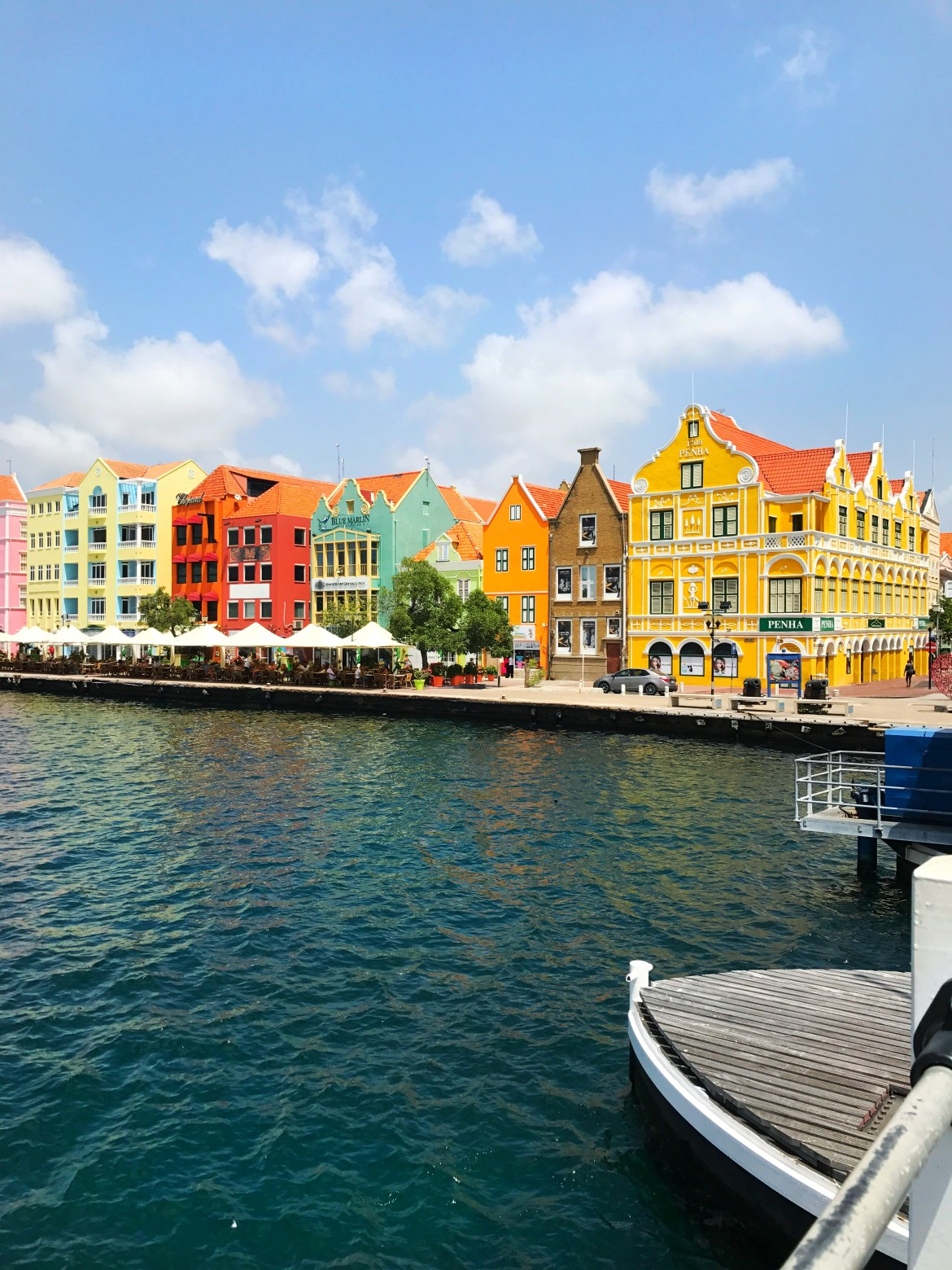 Colorful buildings in Willemstad, Curaçao